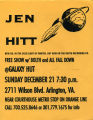 Flyer for Jen Hitt, Bolth, and All Fall Down Concert